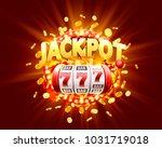 golden slot machine wins the...   Shutterstock .eps vector #1031719018