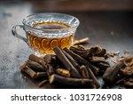 ayurvedic herb liquorice root... | Shutterstock . vector #1031726908