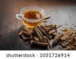 ayurvedic herb liquorice root... | Shutterstock . vector #1031726914