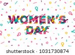 happy women's day greeting card ... | Shutterstock .eps vector #1031730874