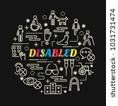 disabled colorful gradient with ... | Shutterstock .eps vector #1031731474