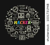 hacker colorful gradient with... | Shutterstock .eps vector #1031731948
