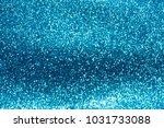 blue glittering abstract... | Shutterstock . vector #1031733088