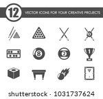 billiards vector icons for your ... | Shutterstock .eps vector #1031737624