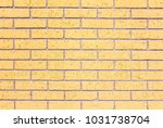 the plastered and painted brick ... | Shutterstock . vector #1031738704