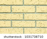 the plastered and painted brick ... | Shutterstock . vector #1031738710