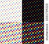 four different seamless... | Shutterstock .eps vector #1031739223