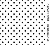 seamless black polka dot... | Shutterstock .eps vector #1031739250