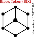 vector bibox token  bix ...   Shutterstock .eps vector #1031739988