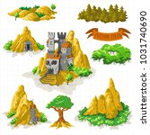 fantasy adventure map elements... | Shutterstock .eps vector #1031740690