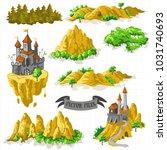 fantasy adventure map elements... | Shutterstock .eps vector #1031740693
