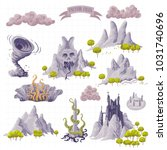 fantasy adventure map elements... | Shutterstock .eps vector #1031740696