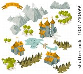 fantasy adventure map elements... | Shutterstock .eps vector #1031740699