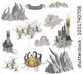 fantasy adventure map elements...   Shutterstock .eps vector #1031740708