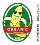 banana character label design | Shutterstock .eps vector #1031741704
