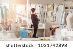 female fashion  designer  ... | Shutterstock . vector #1031742898