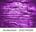 ultra violet dark stone bricks... | Shutterstock . vector #1031744200