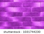 ultra violet gradient bricks.... | Shutterstock . vector #1031744230