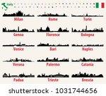 italy vector cities skylines | Shutterstock .eps vector #1031744656