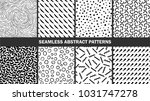 set of seamless abstract... | Shutterstock .eps vector #1031747278