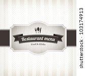restaurant menu design | Shutterstock .eps vector #103174913