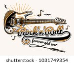 rock and roll guitar music...