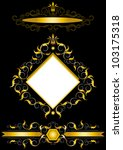 gold frame in the antiques... | Shutterstock .eps vector #103175318