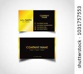 golden luxury business card...   Shutterstock .eps vector #1031757553