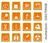 chemical laboratory icons set... | Shutterstock . vector #1031759038