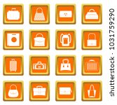 bag baggage suitcase icons set... | Shutterstock . vector #1031759290