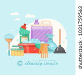 cleaning service vector...   Shutterstock .eps vector #1031759563
