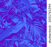 seamless ultraviolet hawaiian... | Shutterstock .eps vector #1031761594