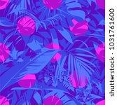 seamless ultraviolet hawaiian... | Shutterstock .eps vector #1031761600