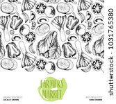 hand drawn farm vegetables....   Shutterstock . vector #1031765380