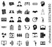 conformity in work icons set.... | Shutterstock . vector #1031766850