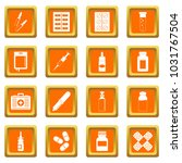 different drugs icons set in... | Shutterstock . vector #1031767504