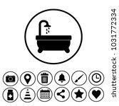 bathroom sign icon | Shutterstock .eps vector #1031772334