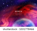 space stars background. vector... | Shutterstock .eps vector #1031778466