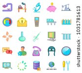 economy icons set. cartoon set... | Shutterstock . vector #1031781613