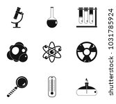 chemistry icon set. simple... | Shutterstock . vector #1031785924