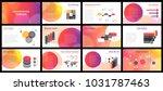 business presentation templates.... | Shutterstock .eps vector #1031787463