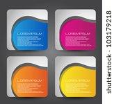 stylized web banners set | Shutterstock .eps vector #103179218