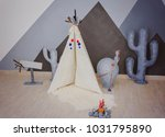 indian style decor  wigwam ... | Shutterstock . vector #1031795890