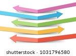 bounced color arrows... | Shutterstock .eps vector #1031796580