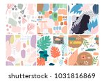 set of six hand drawn vector... | Shutterstock .eps vector #1031816869