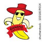 banana character vector file | Shutterstock .eps vector #1031819014