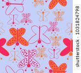 colored butterfly with ellipses ... | Shutterstock . vector #1031824798