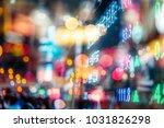 stock market display in the... | Shutterstock . vector #1031826298