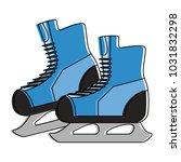 ice skates winter sports... | Shutterstock .eps vector #1031832298