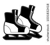ice skates winter sports... | Shutterstock .eps vector #1031832418